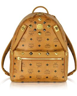 Cognac Small Dual Stark Backpack