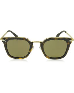 Vic Cl 41402/s Acetate And Gold Metal Cat Eye Women's Sunglasses