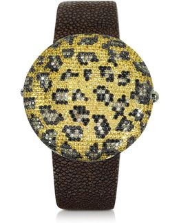 Clou Leopard Diamond Dinner Watch