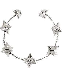 Pierce Me Palladium Plated Metal Spiked Chain Armlet