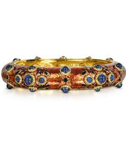 Charlotte Brass And Enamel Bracelet