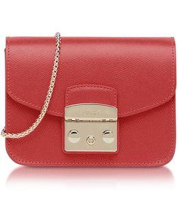Ruby Leather Metropolis Mini Crossbody Bag