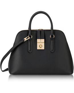 Onyx Milano Medium Leather Handle Bag