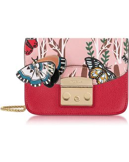 Ruby Metropolis Crossbody Bag W/detachable Butterfly Flap