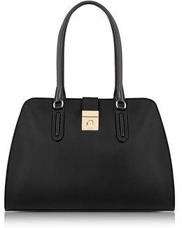 Onyx Milano Medium Leather Tote Bag