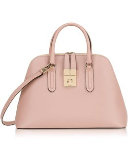 Moonstone Milano Medium Leather Handle Bag