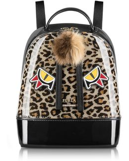 Leopard Print And Toni Glace Candy Jungle Small Backpack