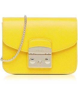 Bright Yellow Metropolis Mini Crossbody Bag