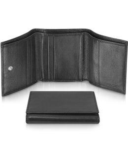 Classica - Women's Black Calfskin Small Trifold Wallet