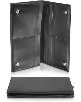 Classica Collection - Black Calfskin Continental Wallet