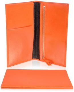 Classica Collection - Orange Calfskin Travel Document Case