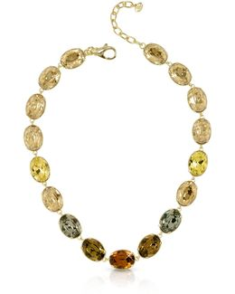 Golden Crystal Necklace