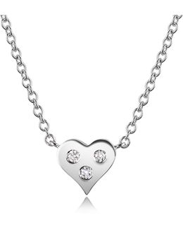 0.05 Ct Diamond Heart Pendant Necklace