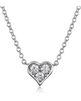 0.31 Ct Diamond Heart Pendant Necklace