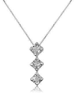 0.12 Ct Diamond Drop 18k Gold Necklace