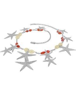 Starfish Pendants Sterling Silver Gemstones Necklace
