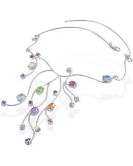 Sterling Silver Multi-gemstones Necklace