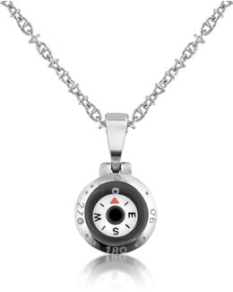 Stainless Steel Compass Pendant Necklace