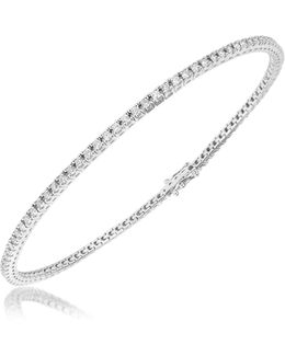 1.05 Ctw White Diamond Eternity 18k Gold Tennis Bracelet