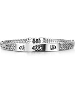 Difulco Line Stainless Steel Three-strand Bracelet