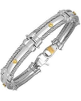 Difulco Line Gold Screw Stainless Steel Link Bracelet