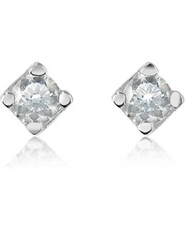 0.18 Ct Diamond Stud 18k Gold Earrings