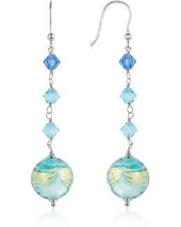 Mare - Turquoise Murano Glass Bead Earrings