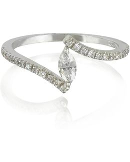 White Gold Eye Shaped Diamond Ring