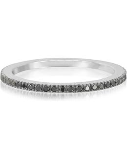 Black Diamond Eternity Band Ring