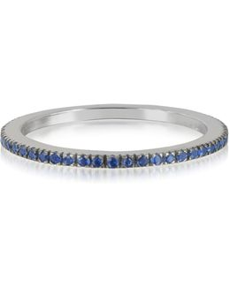 Natural Blue Sapphire Eternity Band Ring