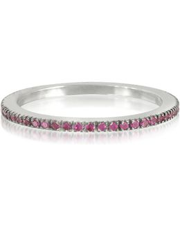 Natural Pink Sapphire Eternity Band Ring
