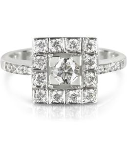 0.51 Ctw Diamond 18k White Gold Ring