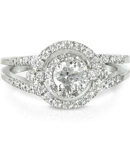 058 Ctw Diamond 18k White Gold Ring