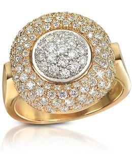 1.49 Ct Diamond Pave 18k Gold Ring