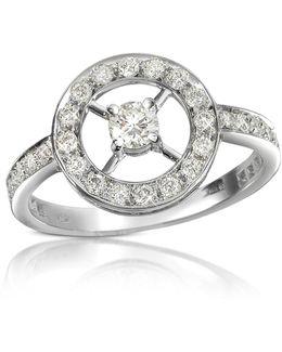 0.52 Ctw Diamond 18k Gold Ring