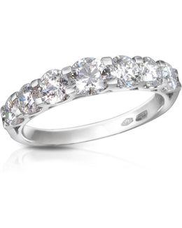 1.33 Ct Prong-set Diamond 18k Gold Ring