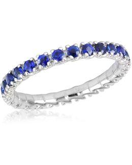 Blue Sapphires 18k Gold Eternity Band