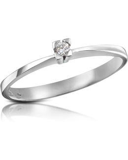 0.03 Ctw Diamond Solitaire Ring