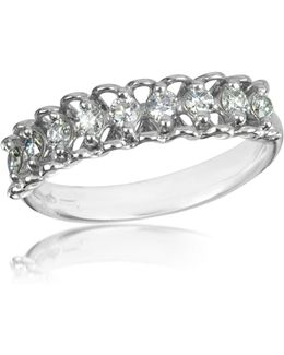 0.37 Ctw Nine-stone Diamond 18k White Gold Ring