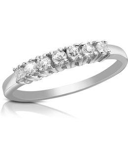 0.24 Ct Diamond 18k Gold Band Ring