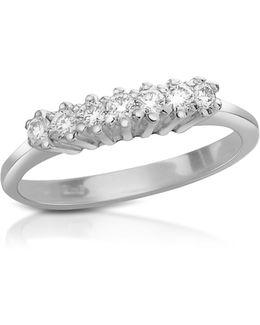 0.10 Ct Diamond 18k Gold Band Ring