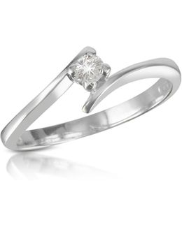 0.10 Ct Diamond Solitaire Ring
