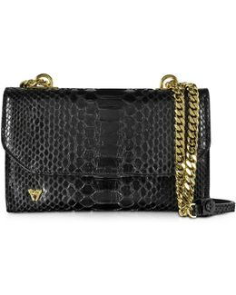 Small Phyton Leather Shoulder Bag