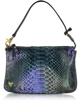 Genuine Phyton Leather Shoulder Bag