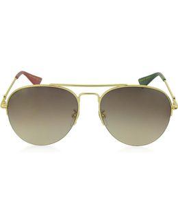 Gg0107s Metal Aviator Men's Sunglasses