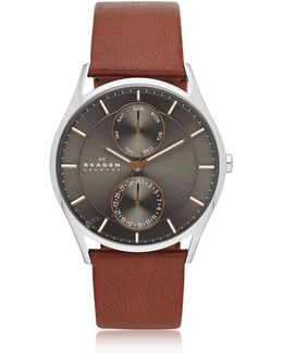 Holst Multifunction Leather Men's Watch
