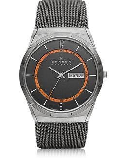 Melbye Gray & Orange Titanium Men's Watch