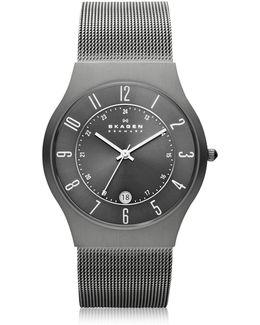 Grenen Steel Mesh And Titanium Case Men's Watch