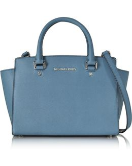 Saffiano Leather Selma Medium T/zip Satchel