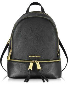 Rhea Zip Black Medium Backpack